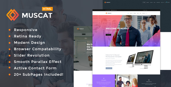 Download Muscat - Multi-Color Multipurpose HTML Template