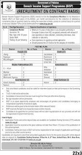 BISP Jobs 2020 - Latest BISP Jobs 2020 90+ Posts all Over Pakistan