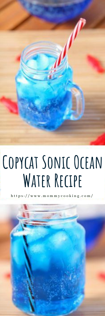 Copycat Sonic Ocean Water Recipe #cocktail #recipe