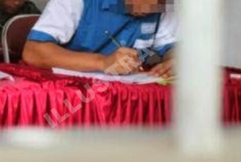 Ujian Nasional warga lapas Ngawi