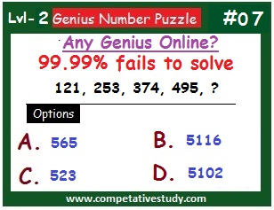 Math Puzzle: Find the missing number: 121, 253, 374, 495, ?