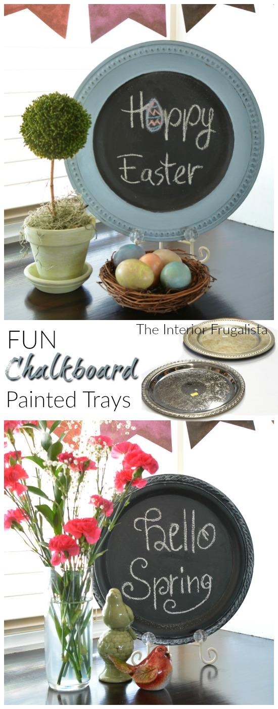 Easter & Spring Chalkboard Plates