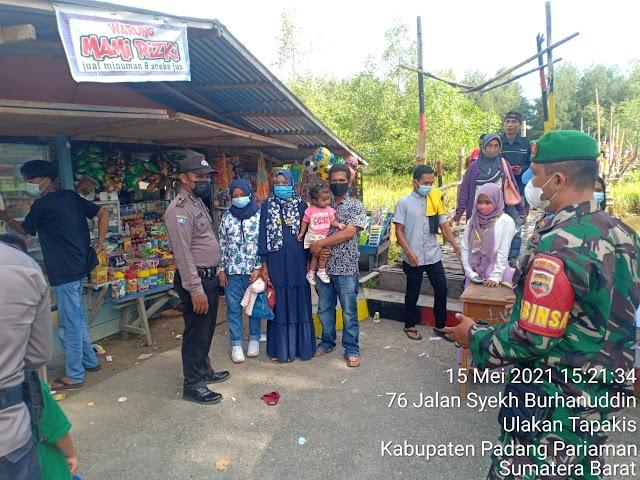 Kodim 0308/Pariaman  SINERGITAS TNI, POLRI DAN DINAS TERKAIT PANTAU TEMPAT WISATA