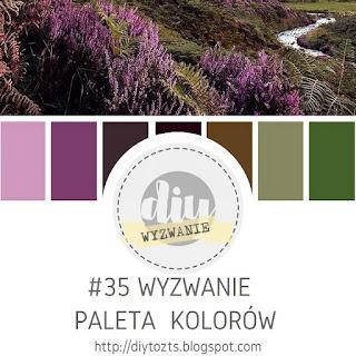 Lawendowa paleta kolorów