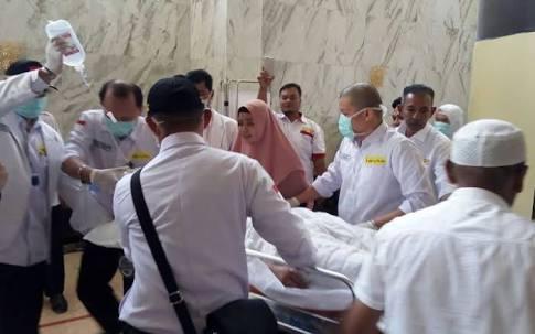 Salah seorang jamaah haji Indonesia yang meninggal dunia.
