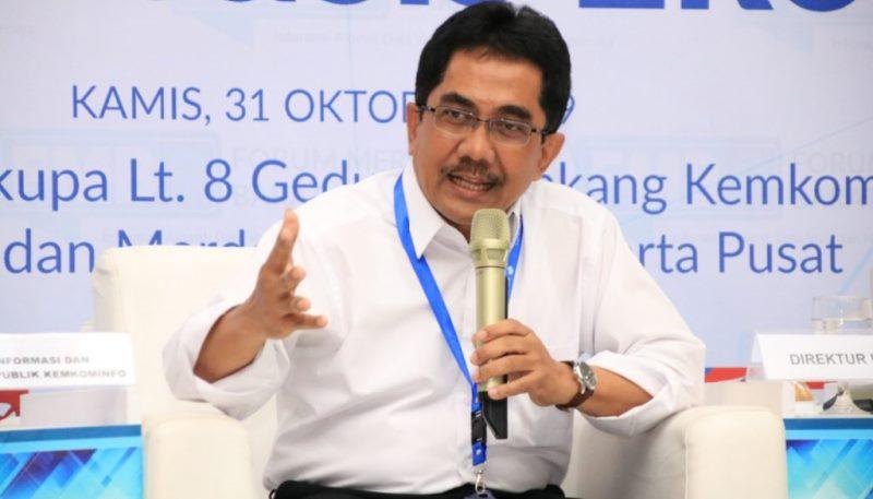 Direktur Jenderal Informasi dan Komunikasi Publik (IKP) Kementerian Komunikasi dan Informatika (Kemkominfo) Prof Dr Widodo Muktiyo