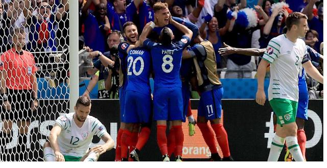 Euro 2016 Match France - Irlande : France-Irlande, en 8 minutes Griezmann sauve les Bleus