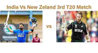 India Vs Newzeland 3rd T20