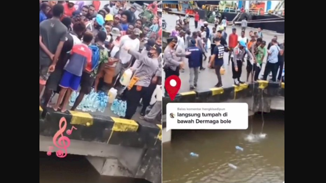Viral Oknum Polisi Buang Miras dan Botol Plastik ke Laut, Kapolres Minta Maaf