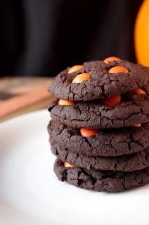 Vegan Halloween chocolate cookie recipe