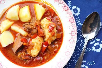 paprikas poulet quenelles
