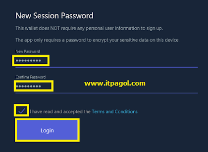 your password and Click Login