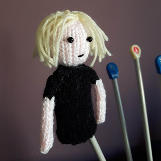 Knitted Yuri Plisetsky by Nicky Fijalkowska