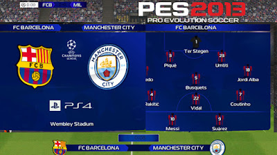 PES 2013 Scoreboard UEFA Champion League 2018/2019