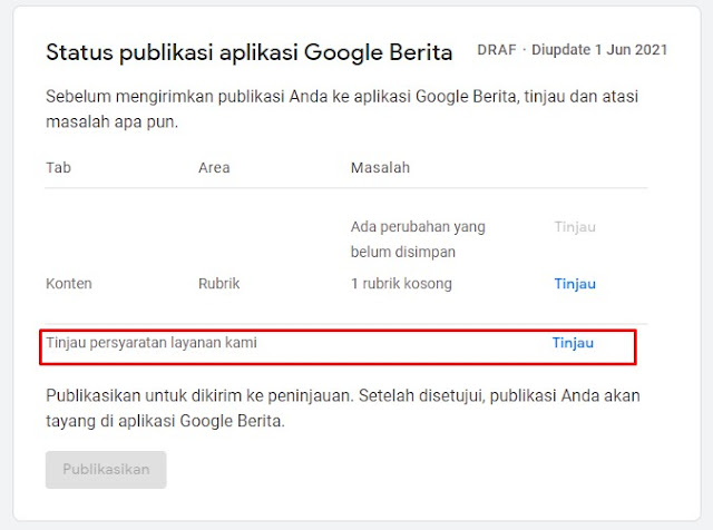 Persyaratan Google News
