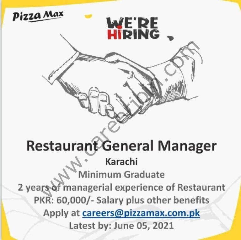 Pizza Max Jobs 2021 in Pakistan