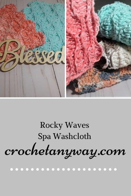 crochet wave stitch cotton yarn washcloth