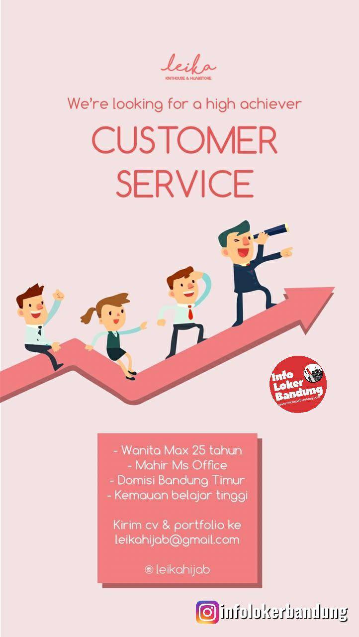 Lowongan Kerja Customer Service Leika Hijab Bandung Juli 2109