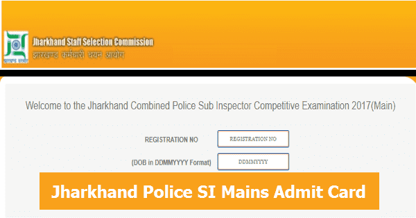 Jharkhand Police SI Mains Admit Card Download