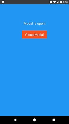 React Native Modal Example
