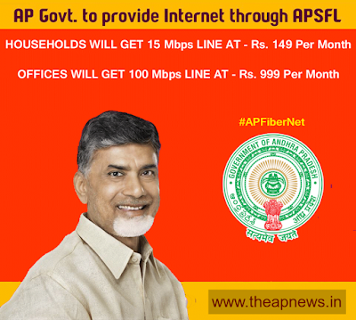 AP Government Launches 15Mbps Broadband at Rs. 149, 100Mbps to Offices at Rs. 999