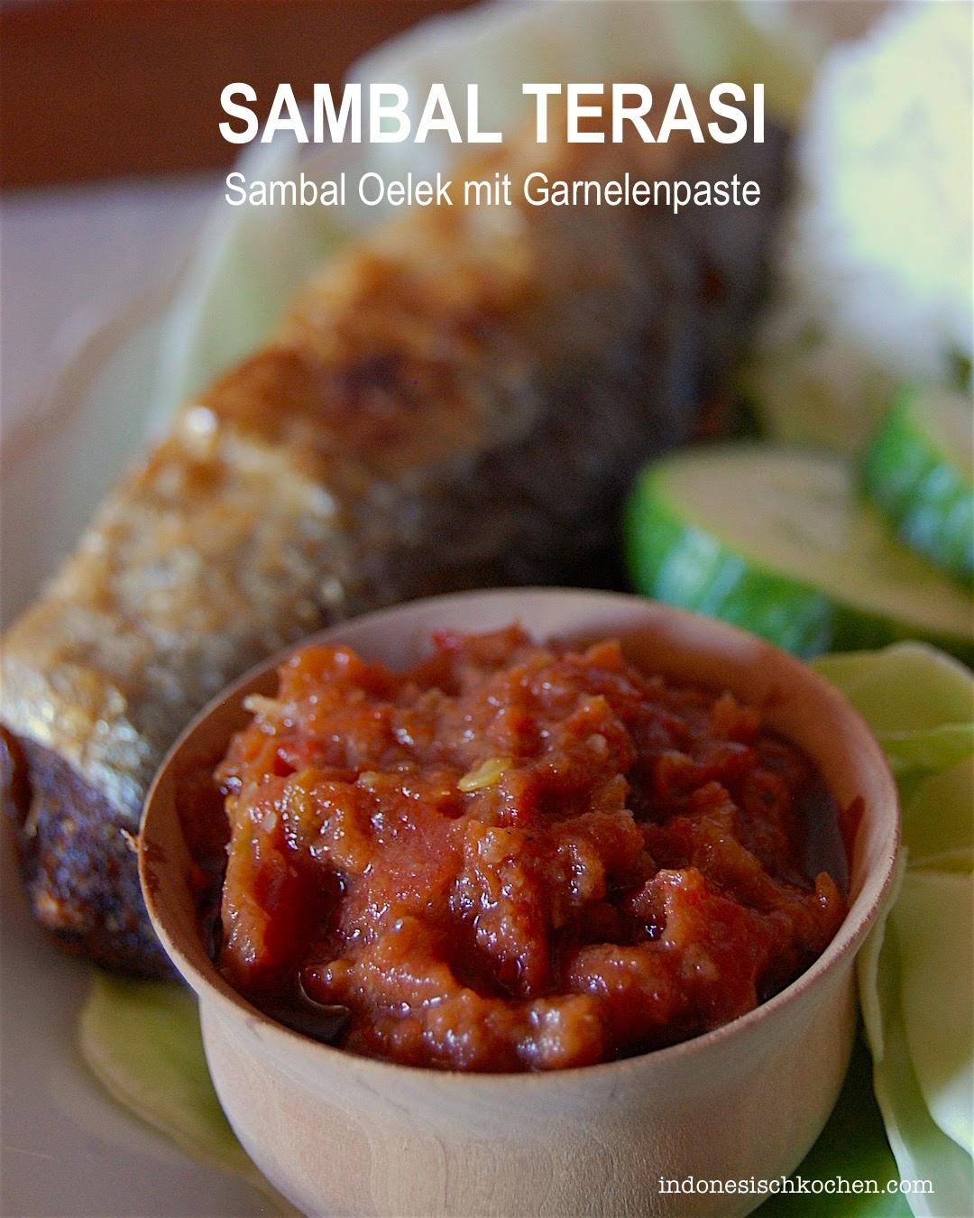 Rezept Sambal Oelek mit Garnelenpaste, Sambal Terasi balinesisch kochen