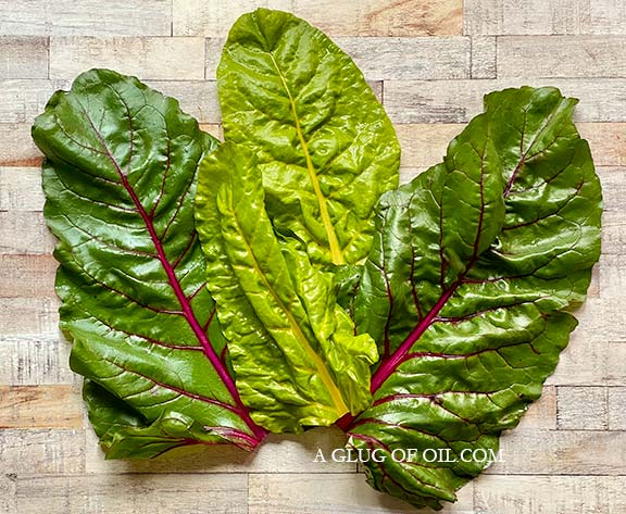 Chard with stalks removed