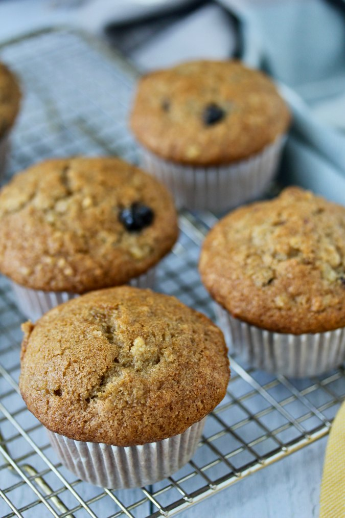 Apple Rye Muffins with blueberries