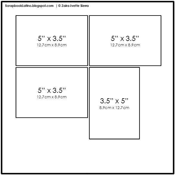 10 técnicas para multiplicar tus bocetos de scrapbooking: Tecnica # 2, Ejemplo 2