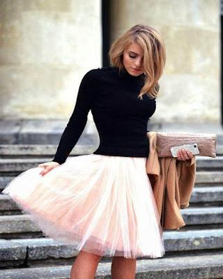 outfit casual de verano tumblr de moda con falda de tul