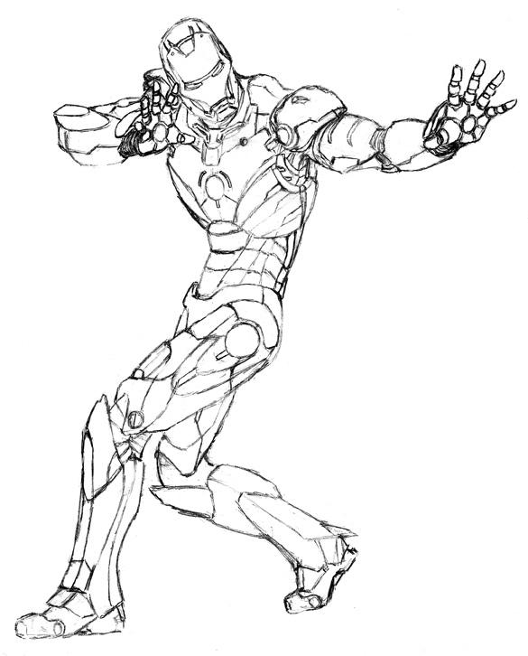 Desenhos Do Homem De Ferro Para Colorir E Imprimir Toda Atual