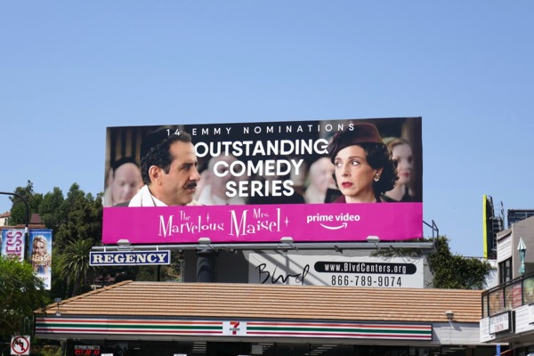Mrs Maisel Comedy Series Emmy nominee billboard