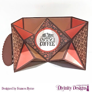 Stamps: But First Coffee Stamp/Die Duos: Cocoa & Coffee  Dies: Pop Out Card With Layers, Circles, Scalloped Circles  Papers Collection: Latte Love