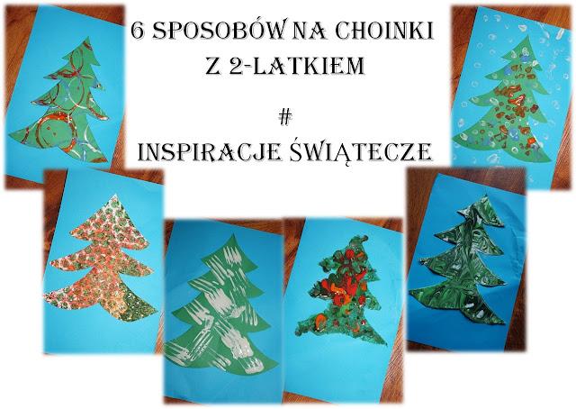 http://www.kreatywniewdomu.pl/2015/12/6-sposobow-na-malowane-choinki-z.html