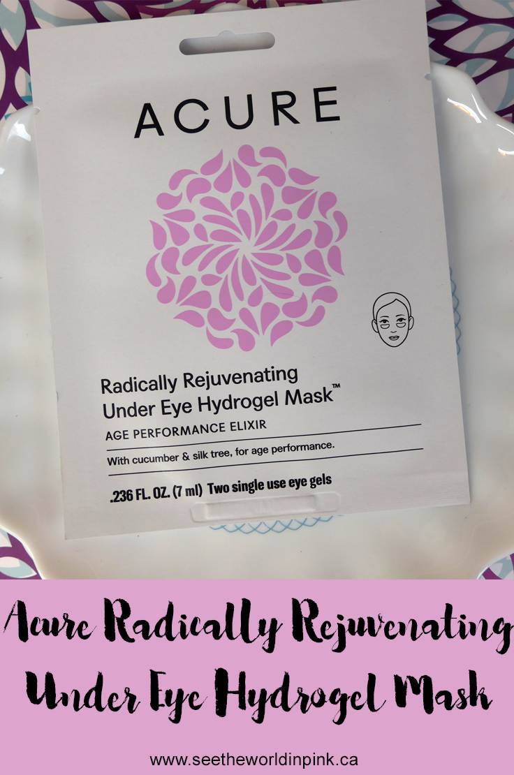 Acure Radically Rejuvenating Under Eye Hydrogels Mask