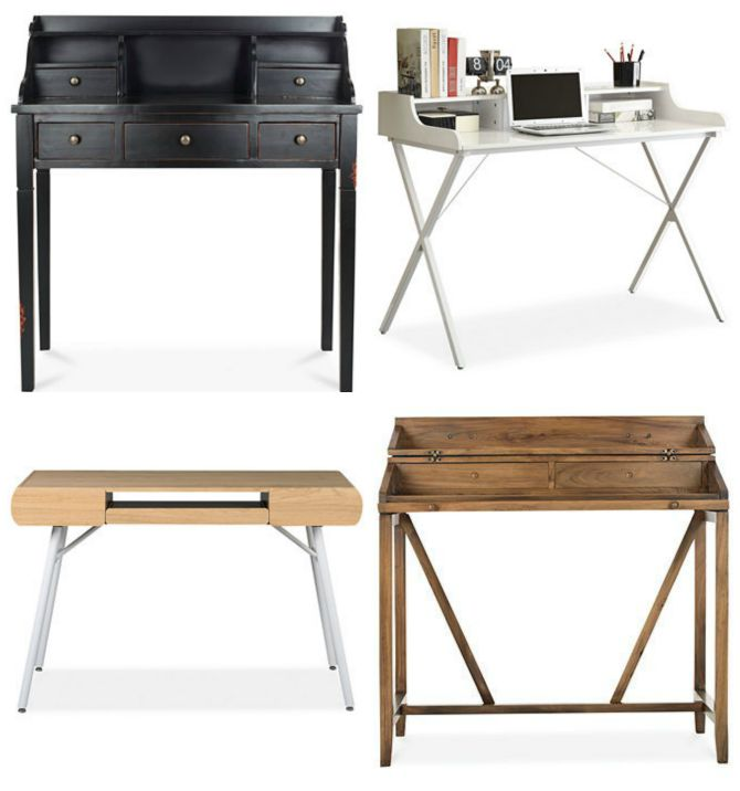 WOW! 14 stylish and affordable desks for your home! Get the sources at diy beautify blog!