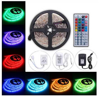 Strip Light 5M 300 LED RGB SMD5050 Waterproof 44 Key Remote
