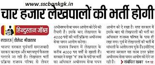 UPSSSC 4000 Lekhpal Recruitment 2018