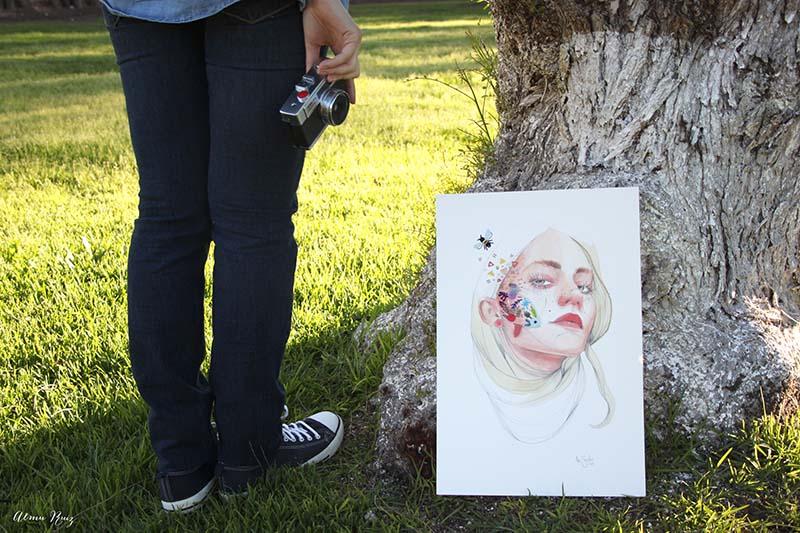 Almu Ruiz borda ilustración de Ana Santos