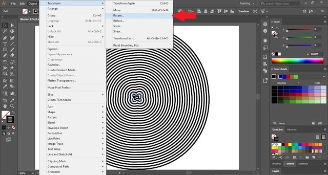 Illusion Effect in Adobe Illustrator