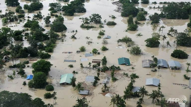 Disaster unfolding after days of torrential rain in Myanmar  Myanmar-flooding