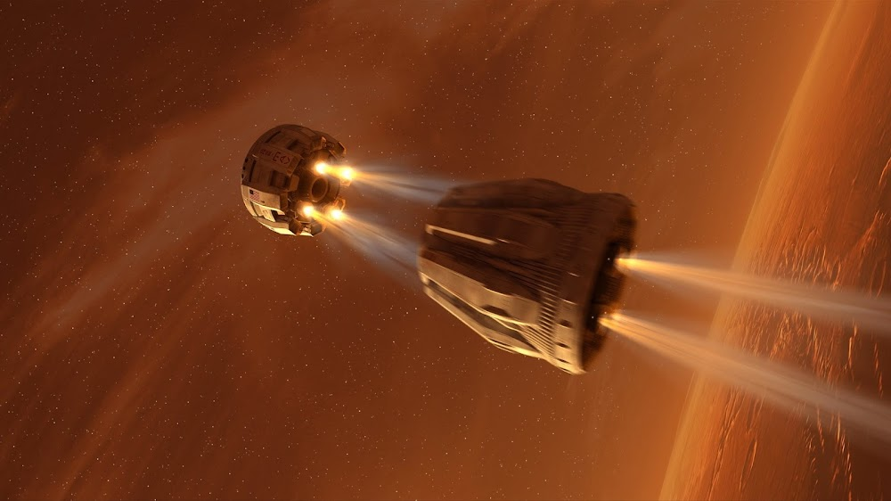 MAV 2nd stage separation - concept art for The Martian by Steve Burg