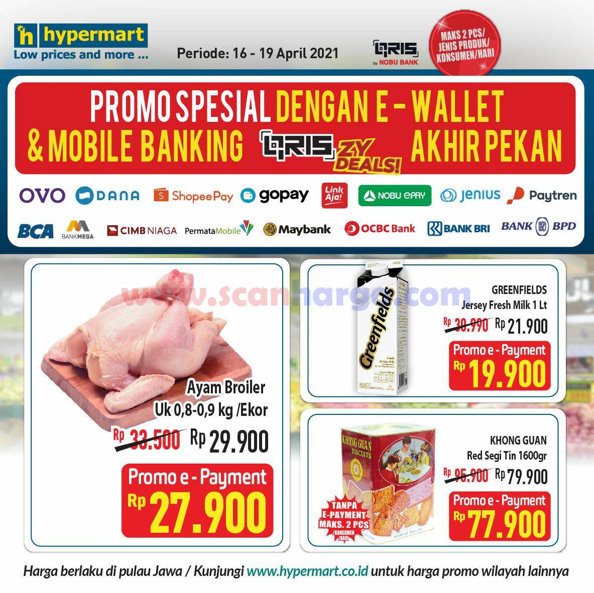 Promo FOODMART Diskon SPESIAL bayar pakai Semua E-Wallet & Mobile Banking