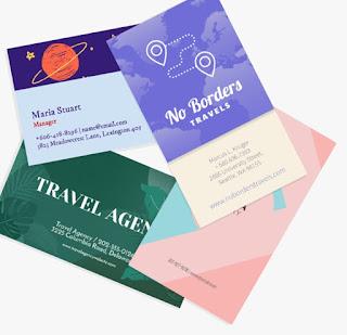 Jasa Desain Kartu Nama / Kartu bisnis 2 muka
