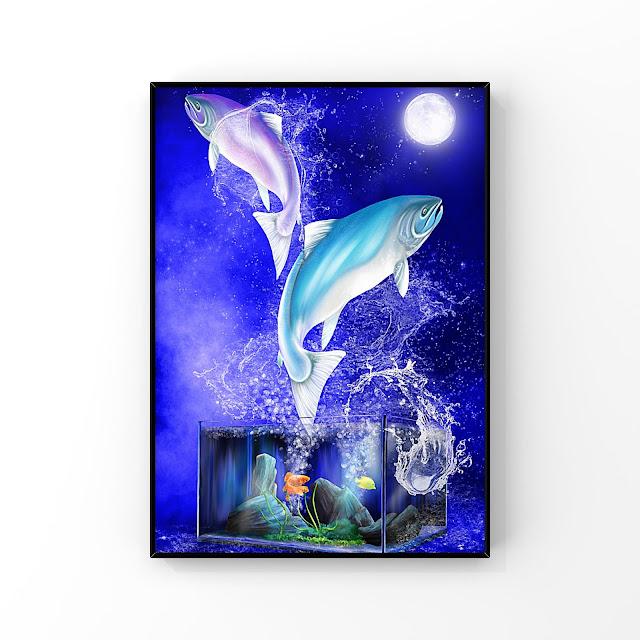 Pisces artwork by Mark Taylor, Pixels, Fine Art America, Artwork, fishing art, aquarium art,