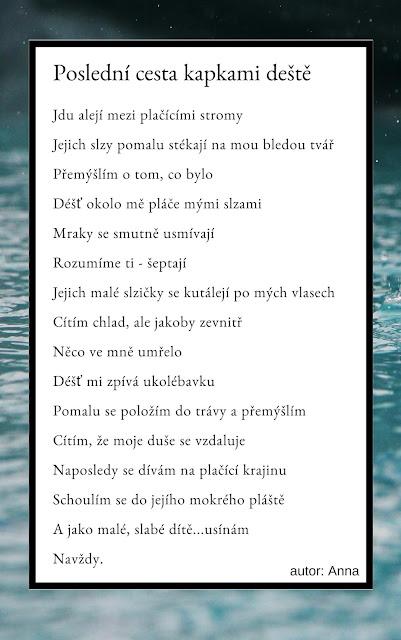 Báseň, poezie o dešti, lásce, smutku