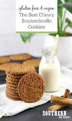 The Best Soft and Chewy Snickerdoodle Cookies Recipe Vegan Gluten Free