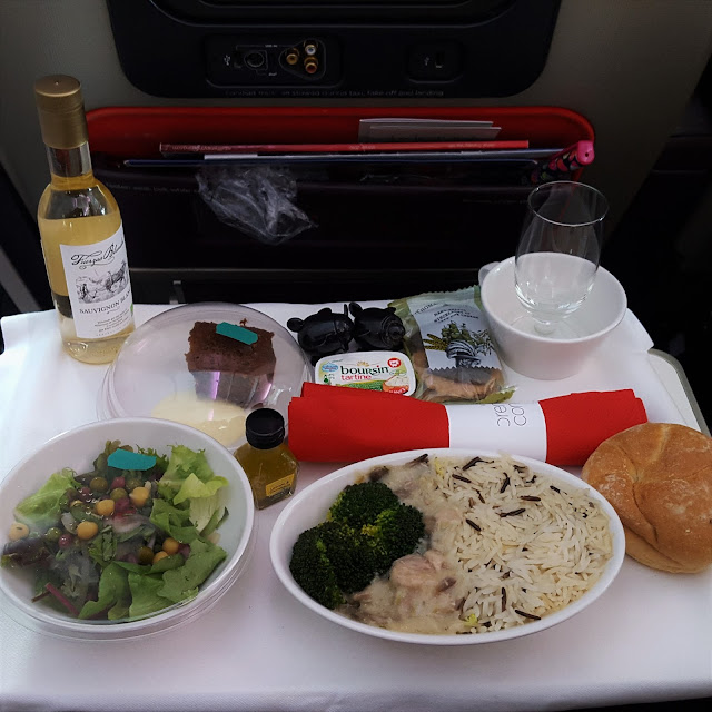 Virgin Atlantic Premium Economy Main Meal