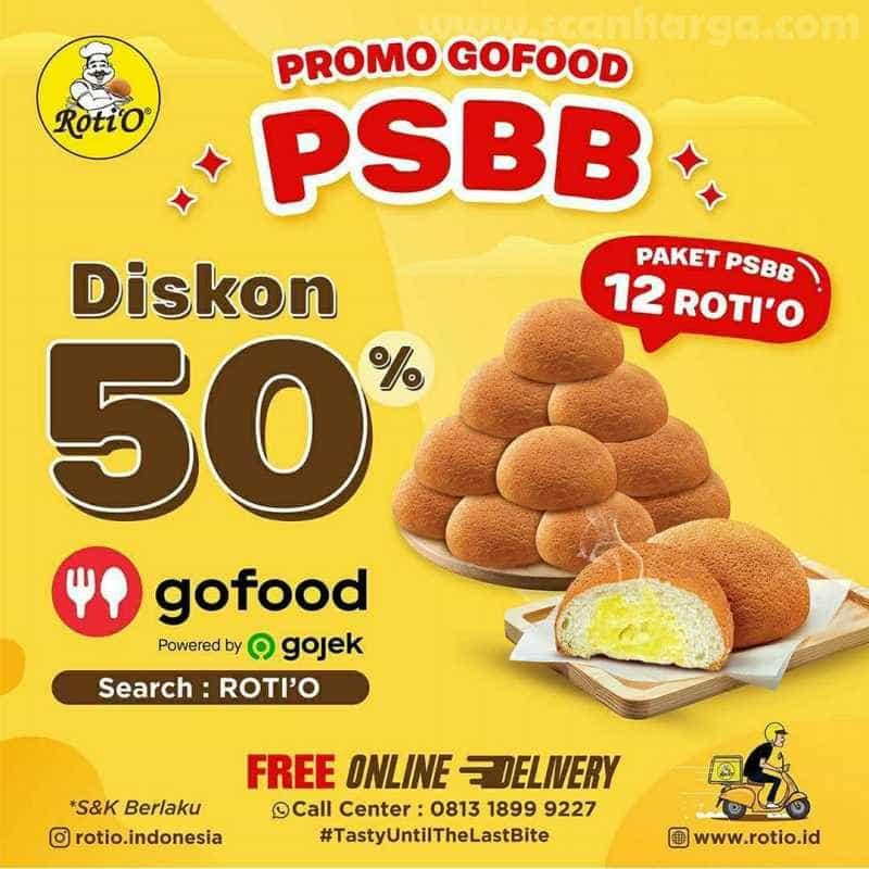 Promo Roti 'O Paket PSBB 12 Rotio Hingga 31 Juli 2020