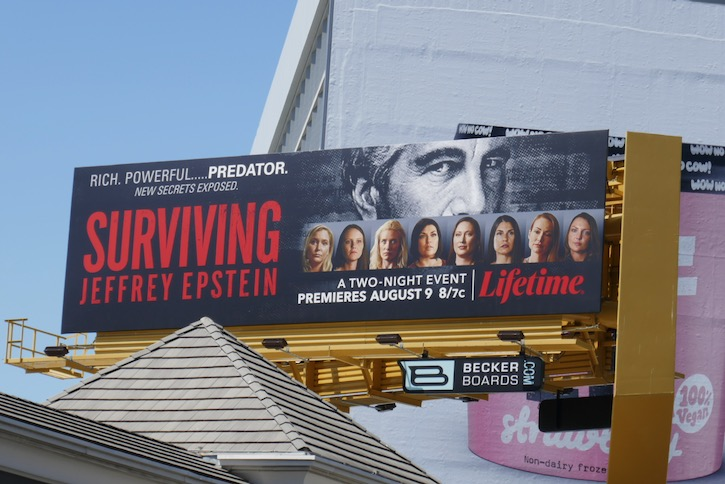 Surviving Jeffrey Epstein series billboard
